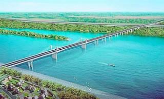 Računalna skica budućeg mosta u Beogradu