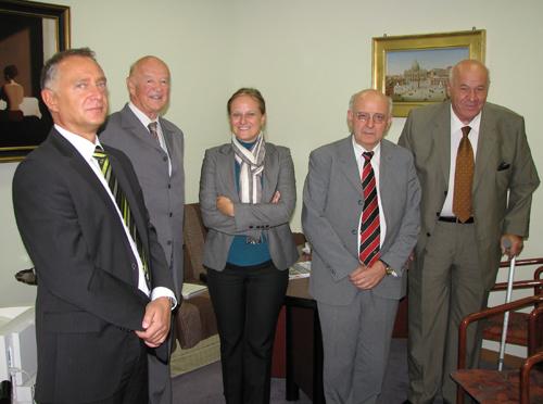 Prof.dr.sc. Boris Cota, Tihomir Sertić, Helena Kasanić, prof.dr.sc. Zdenko Segetlija i Ante Gavranović