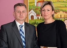 Gradonačelnica Antonia Jozić i Željko Pavlović iz Croatia osiguranja